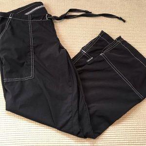 Prana black cropped athletic pants